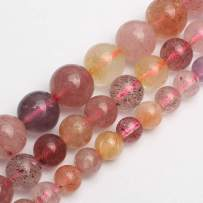 Love Beads 6mm Natural Super Seven Crystal Quartz Beads for Jewelry Making 15inch Gemstone Beads
