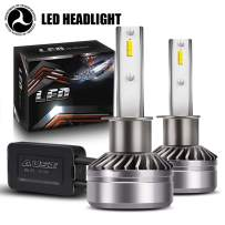 AUSI H1 High Beam/Low Beam LED Headlight Bulbs D6 Series CSP Chips Conversion Kit 3000LM 6000K Cool White (2 Pack)-DOT Certified
