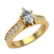 3/4 ct tw Marquise Diamond Engagement Ring in 14K Gold (I,I1) Popular Quality
