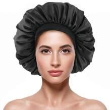 Satin Bonnet Silk Curly Natural Long Hair Sleep Cap Women Night Extra Large Oversized Headbands XL XXL