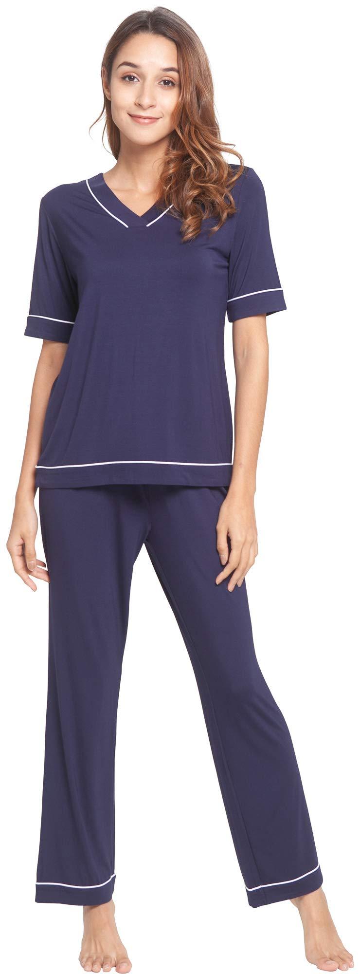 WiWi Women Short Sleeve Pants Pajamas Set S-4X