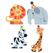 Big Dot of Happiness Jungle Party Animals - DIY Shaped Safari Zoo Animal Birthday Party or Baby Shower Cut-Outs - 24 Count