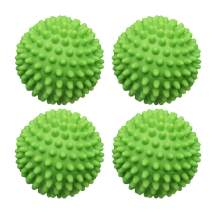 ESALINK Laundry Dryer Balls 4 Pcs of Green - Replace Drying Washing Ball, Alternative to Fabric Softener Reusable