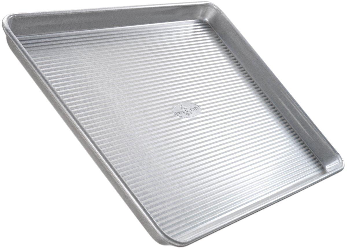 USA Pan Bakeware Quarter Sheet Pan, Warp Resistant Nonstick Baking Pan, Made in the USA from Aluminized Steel