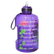 BuildLife Gallon Motivational Water Bottle Wide Mouth with Straw & Time Marked to Drink More Daily,BPA Free Reusable Gym Sports Outdoor Large(128OZ) Capacity (Lucky Clover, 1 Gallon)