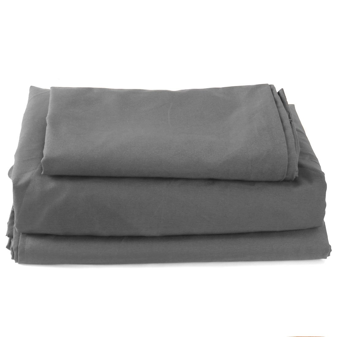 """uxcell Bed Sheets Set, Soft Brushed Microfiber 4-Piece Bed Linen Set with 16"""" Deep Pocket Fitted Sheet - (Queen, Dark Gray)"""