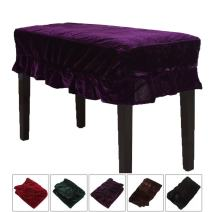 Monkeysell Piano Stool Chair Bench Cover Pleuche Decorated with Macrame Fringes 75 X 35cm for Piano Dual Seat Bench Universal (purple Chair Bench)