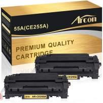 Arcon Compatible Toner Cartridge Replacement for HP 55A CE255A CE255X 55X Laserjet P3015 P3011 P3010 Enterprise 500 MFP M521dn M525dn M525f M521dw Toner Printer (Black, 2-Pack)