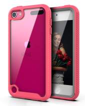 QQcase iPod Touch 7 / iPod Touch 6/ iPod Touch 5,Dual Layer Hybrid Anti-Slip Sturdy Case Rugged Shockproof Case for SApple iPod Touch 7th/6th/5th Generation Pink