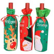 Lesirit Christmas Wine Bottle Cover Decoration Gift (G)
