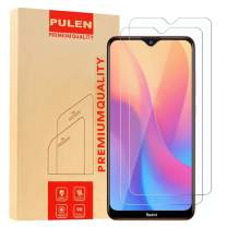 [2-Pack] PULEN for Xiaomi Redmi 8 and Redmi 8A Screen Protector,HD Clear Scratch Resistant Bubble Free Anti-Fingerprints 9H Hardness Tempered Glass