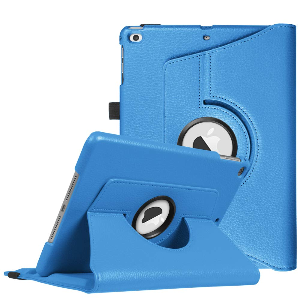 Fintie Case for iPad 9.7 2018 2017 / iPad Air 2 / iPad Air - 360 Degree Rotating Protective Stand Cover with Auto Sleep Wake for iPad 9.7 inch (6th Gen, 5th Gen) / iPad Air 2 / iPad Air, Blue