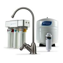 Aquasana OptimH2O Reverse Osmosis Under Sink Water Filter System - Filters 95% Of Fluoride - Kitchen Counter Faucet Filtration - Brushed Nickel - AQ-RO-3.55