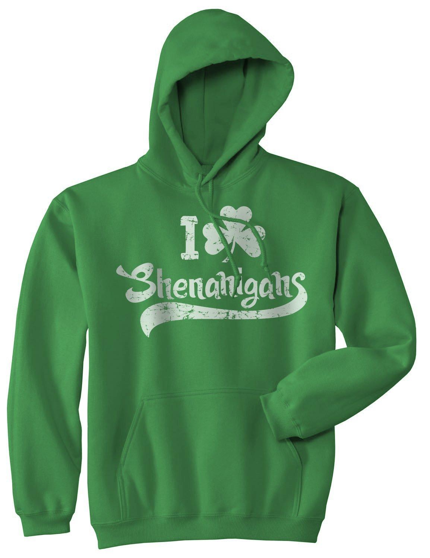 I Clover Shenanigans Hoodie Funny St Saint Patricks Day Sweatshirt Novelty Shirt