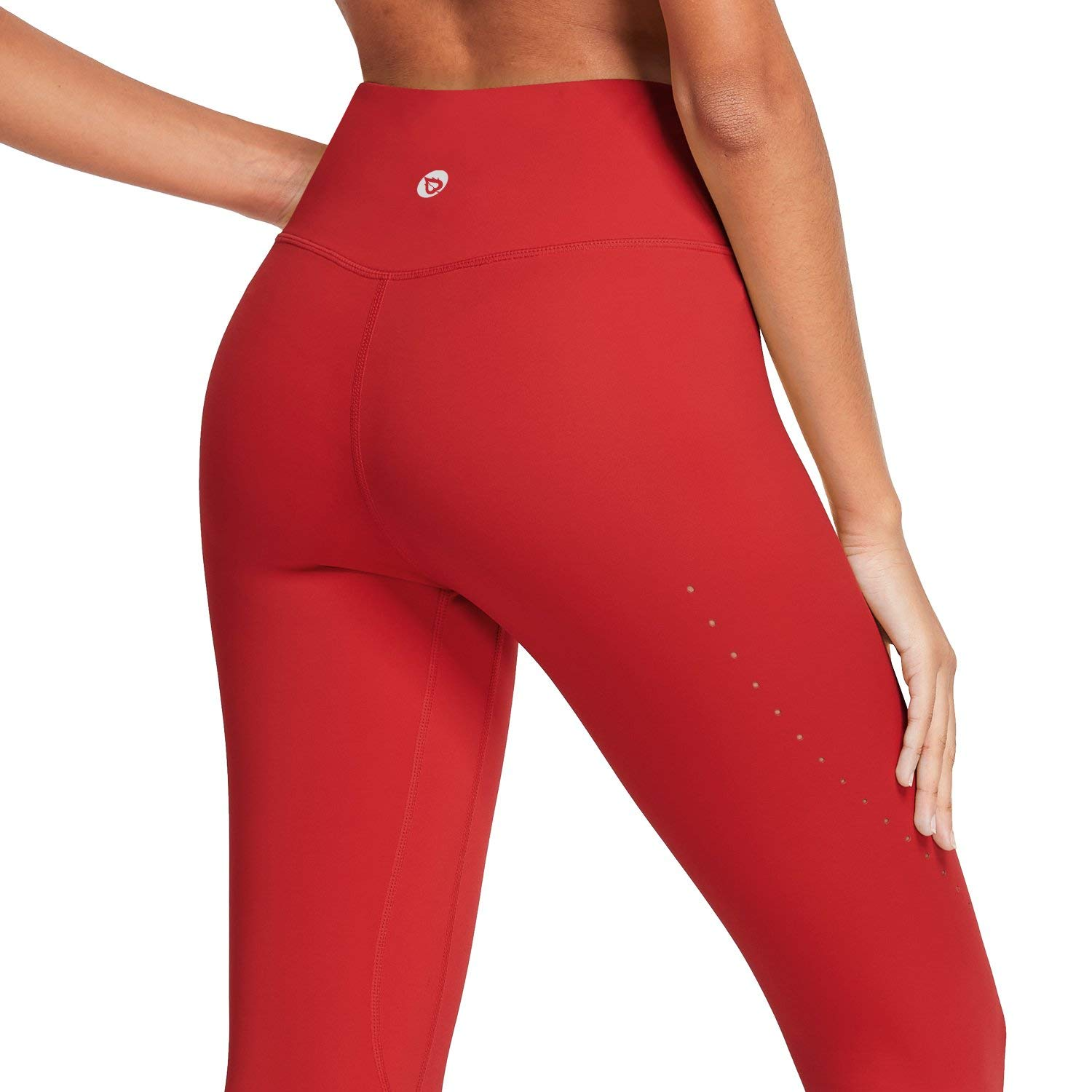 BALEAF 7/8 Women's Buttery Soft High Waisted Air Hole Design Yoga Leggings Tummy Control Opaque Workout Pants