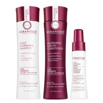 Keranique Boost System - Improve Scalp Health and Hair Growth with Shampoo, Conditioner and Follicle Boosting Serum - Keratin Amino Complex - Paraben Sulfate Free- Curly Thinning Hair, 60 Days