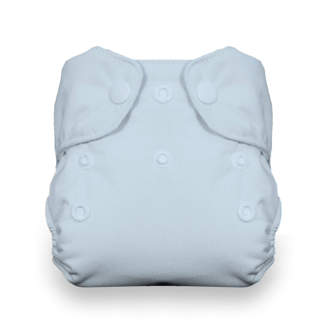 Thirsties Newborn All in One Cloth Diaper, Snap Closure, Ice Blue (5-14 lbs)