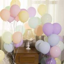 Bleiou 100 Pcs Pastel Color Latex Balloons 10 inch Party Balloons Assorted Color for Birthday Wedding Party Graduation Christmas Baby Shower Party Decorations