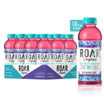 Roar Organic Electrolyte Infusions - USDA Organic - Blueberry Acai - with Antioxidants, B Vitamins, Low-Calorie, Low-Sugar, Low-Carb, Coconut Water Infused Beverage 18 Fl Oz (Pack of 12)
