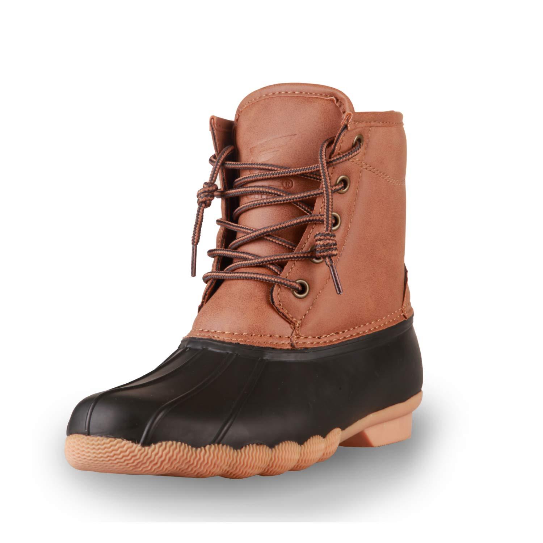 8 Fans Women's Duck Bean Boots, Saltwater Waterproof Insulated Durable Rain Winter Snow Boots for Women