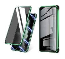 BVCY Magnetic Adsorption Case for iPhone 11 with Built-in Anti-Spy Privacy Screen Protector Anti-Peeping Case (6.1 inch 2019) (Green)