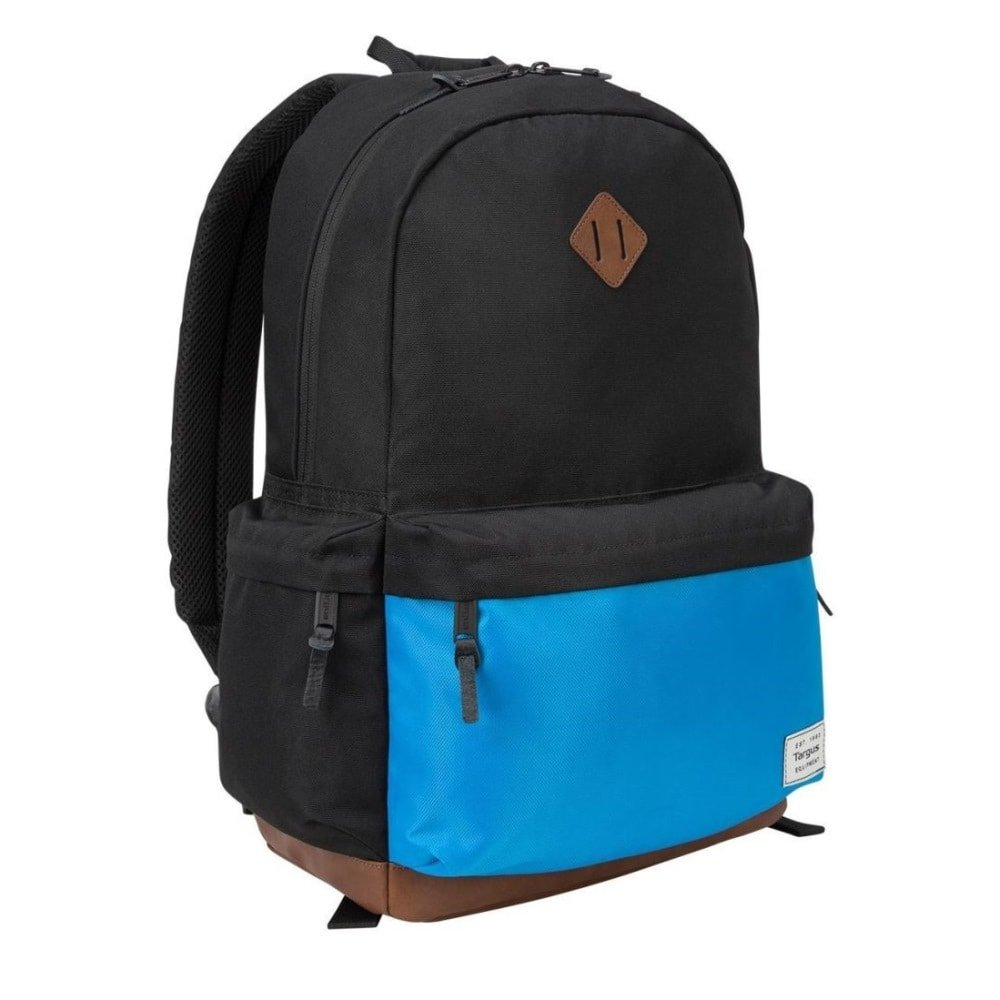 Targus Strata II College and Travel Laptop Backpack with Protective Sleeve for 15.6-Inch Laptop, Blue/Black (TSB936GL)