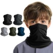 LUNGEAR 5 Pack Neck Gaiter Cooling Kids Bandana UV Sun Protection Scarf Balaclava for Children