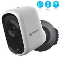 Wireless Outdoor Security Camera with AI Detection, Kittyhok 1080P Rechargeable Battery Powered WiFi Home Security System/Siren Alarm, 2-Way Audio, Night Vision, Weatherproof, Micro SD/Cloud Storage