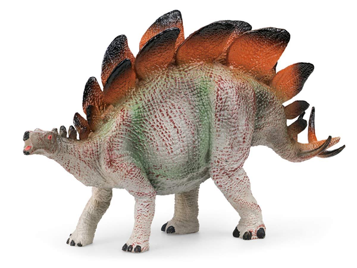 Gemini&Genius Stegosaurus Dinosaur Action Figure Jurassic World Park Dino Toys Green Science Educational Realistic Design Dinosaur Figure Gift for Kids Party and Classroom Prize Supplies