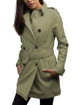 SCOTTeVEST Women's Trench Coat - Travel Clothing, Trench & Rain Coats for Women