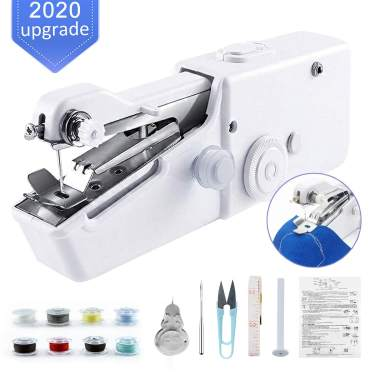 Black Quick Handy Stitch for Home or Travel use White Handheld Sewing Machine Cordless Handheld Electric Sewing Machine with Thread Kit Mini Portable Size