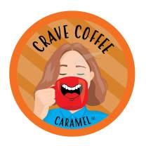 Crave Flavored Coffee Pods, Compatible with 2.0 K-Cup Brewers, Caramel, 100 Count