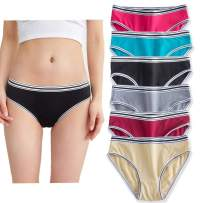 YaoKing Womens Underwear Cotton Bikini Panties Comfort Hipster Briefs - Pack of 6/7