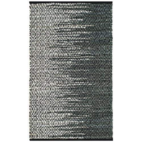 """Safavieh Vintage Leather Collection VTL388B Light Grey and Charcoal Area Rug, 2'3"""" x 4'"""