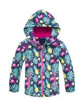 Mallimoda Girls'Hooded Jacket Fleece Liner Waterproof Outdoor Coat Outwear