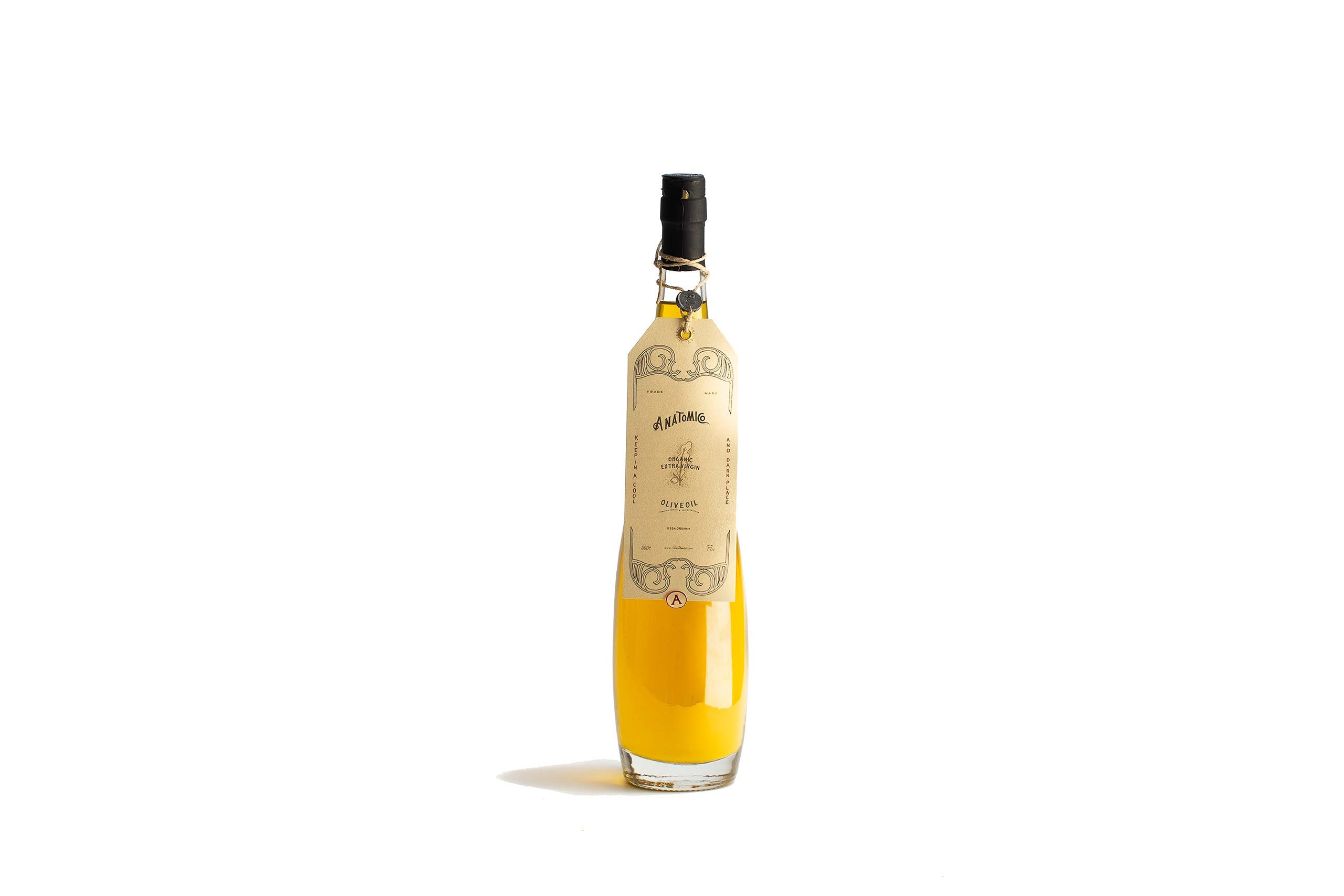 Anatomico Organic Coratina Extra Virgin Olive Oil, Made in Puglia Italy, 16.9 FL Oz. (500 ml)