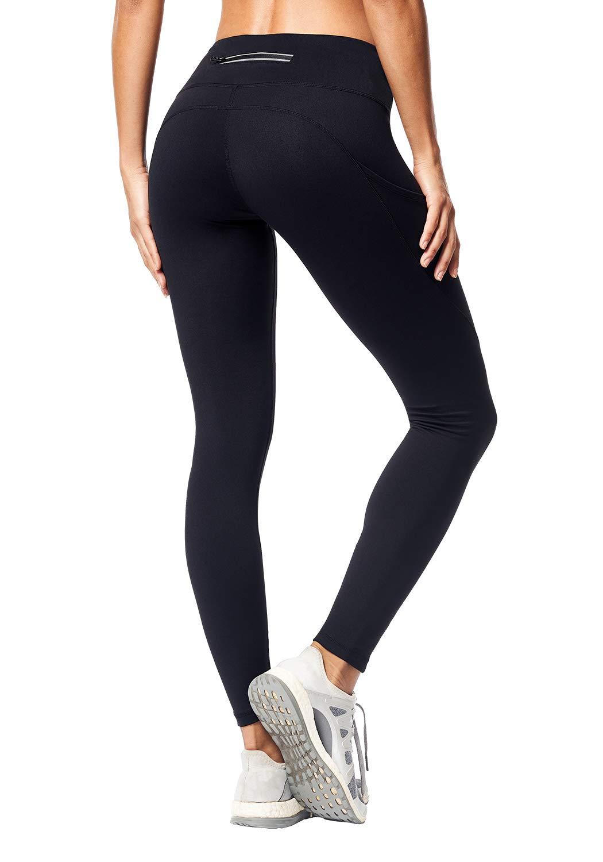 Matymats Women's High Waist Yoga Pants with Side Pocket Tummy Control Workout Running Leggings