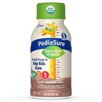 Pediasure Organic Kid's Nutrition Shake, Non-Gmo, No Artificial Flavors or Colors, No Artificial Growth Hormones, 7g Protein, 32mg Dha Omega-3, Milk Chocolate, 8 Fl Oz, 24 Count