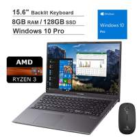 2020 ASUS VivoBook 15.6 Inch FHD 1080P Business Laptop| AMD Ryzen 3 3200U up to 3.5GHz| 8GB RAM| 128GB SSD| Backlit KB| FP Reader| Win10 Pro + NexiGo Wireless Mouse Bundle