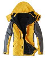 HOOHAY Men's Two in One Outdoor Waterproof Mountain Jacket Windproof Ski Jacket