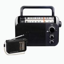 Retekess TR604 Portable AM FM Radio, Analog Transistor Radio, Simple Radio Powered by D Battery, V117 Simple AM FM Radio, Portable Shortwave Radio with Best Reception, Battery Powered Radio