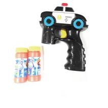 Lightahead Police Swat Car Light Up Bubble Gun Blaster Shooter with Music,Includes 2 Bottles of Solution