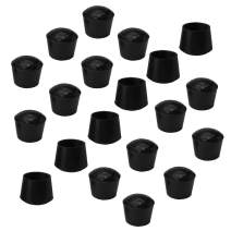 uxcell 20pcs Chair Leg Tips Caps 25mm 1 Inch Anti Slip Rubber Furniture Table Feet Cover Floor Protector Reduce Noise Prevent Scratches