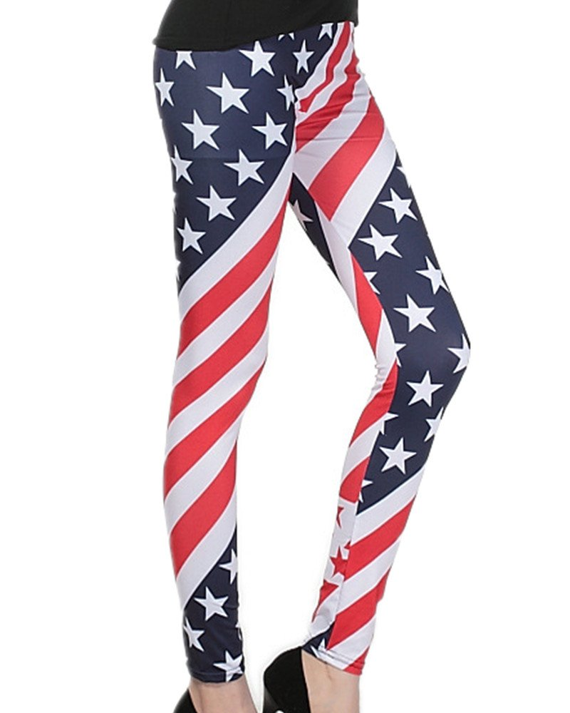 Women's Leggings Striped Patterns Stretchy Leggings