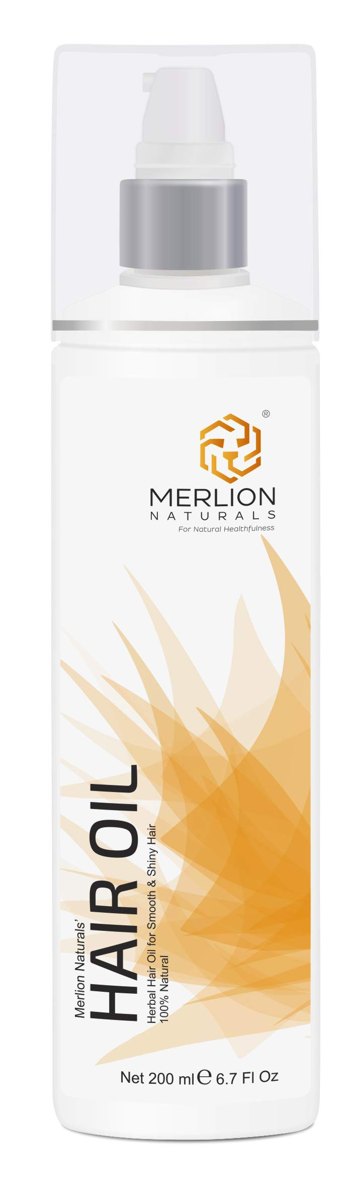 Herbal Hair Oil by Merlion Naturals   12 Essential Herbs like Amla, Virgin Coconut, Sesame seed   200ml/ 6.7OZ   100% Pure and Natural