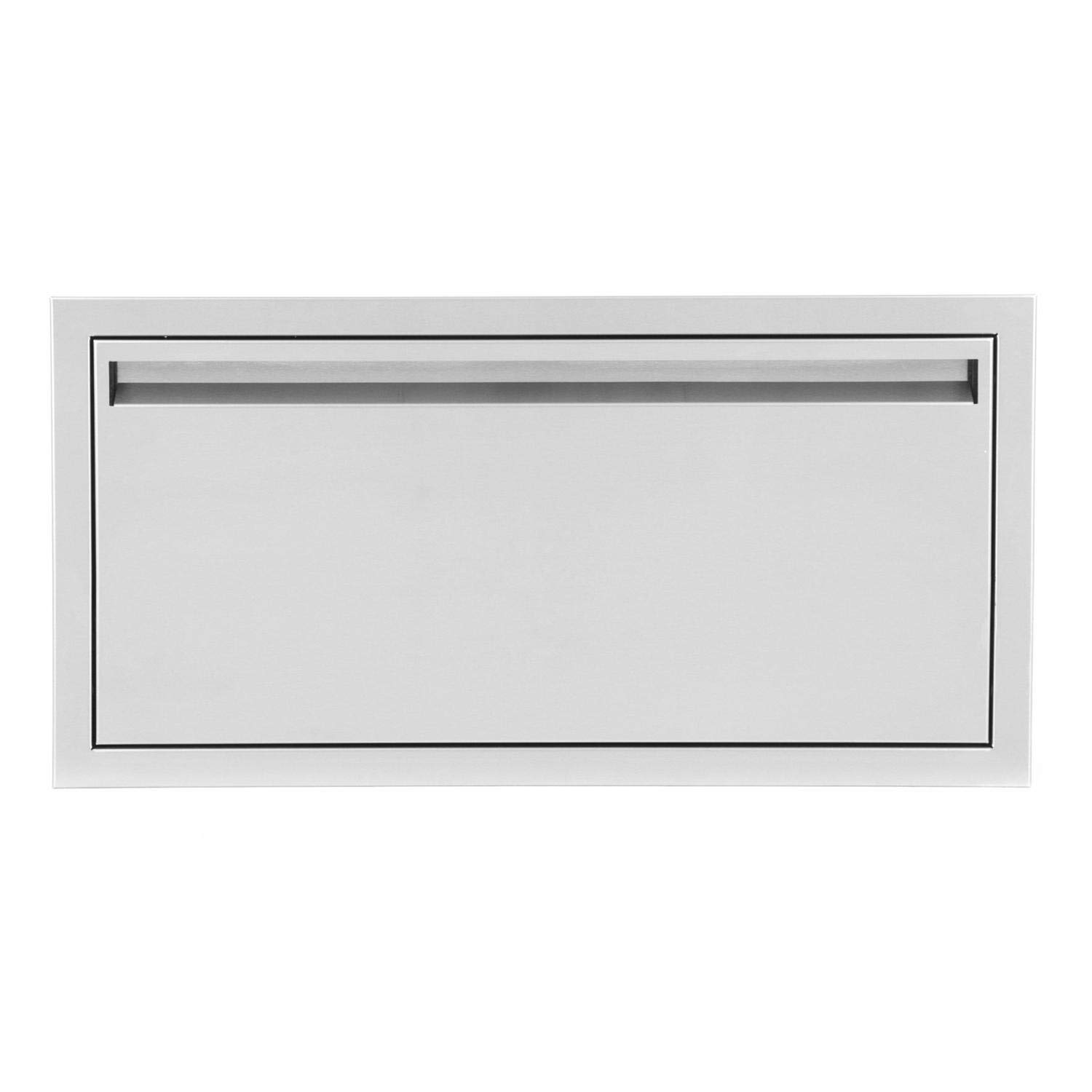 BBQGUYS Aspen Series 30 X 15-Inch Stainless Steel Single Access Drawer