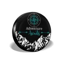 """CENSIHER Spare Jeep Tire Cover RV Wheel Protectors Tire Covers Waterproof Dust-Proof Accessories for Camper Travel Trailers Jeep Wrangler, SUV, Truck Size 14"""" 15"""" 16"""" 17"""""""