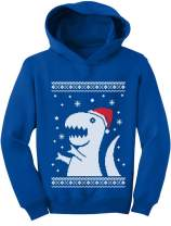 Big Trex Santa Ugly Christmas Sweater Style - Children Funny Toddler Hoodie