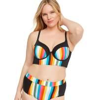 AWIBMK Women's Plus Size Summer Bikini Two Piece Swimsuits Padded Swimwear Bathing Suits