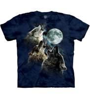 The Mountain Men's Three Wolf Moon Short Sleeve Tee